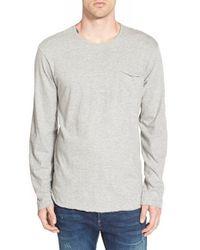 Obey - Gray 'wallen' Long Sleeve Pocket T-shirt for Men - Lyst