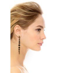 Noir Jewelry | Linear Drop Earrings - Black/gold | Lyst