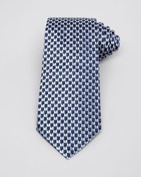 Armani - Blue Small Geometric Triangle Classic Tie for Men - Lyst