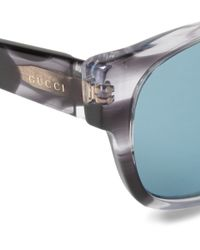 Gucci - Blue Square-Frame Acetate Sunglasses for Men - Lyst