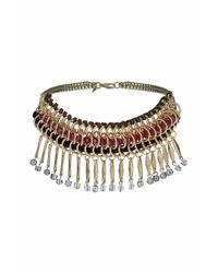 TOPSHOP | Multicolor Facet Wrap And Shard Collar | Lyst