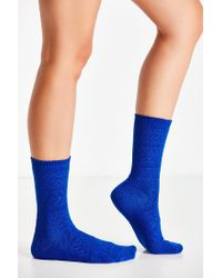 Urban Outfitters | Blue Solid Patterned Boot Sock | Lyst