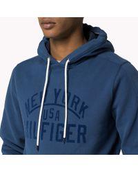 Tommy Hilfiger | Blue Cotton Blend Hoody for Men | Lyst