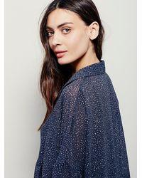 Free People | Blue Fp X Womens Fp X Wayward Sheer Shirtdress | Lyst