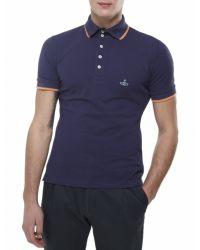 Vivienne Westwood - Blue Pique Polo Shirt for Men - Lyst