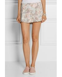 Marc Jacobs - Purple Printed Crepe Shorts - Lyst