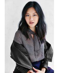 Kimchi Blue - Black Olivia Tie-neck Blouse - Lyst