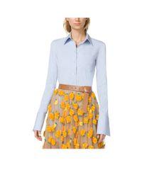 Michael Kors | Blue French Cuff Cotton-Poplin Shirt | Lyst