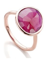 Monica Vinader | Pink Riva Precious Ruby Stacking Ring | Lyst