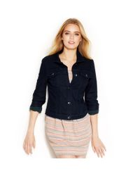 406b1488dfacf Lyst - RACHEL Rachel Roy Denim Jacket Indigo Peacock Wash in Blue