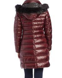 Andrew Marc | Red Gayle Fox Fur-trimmed Puffer Coat | Lyst