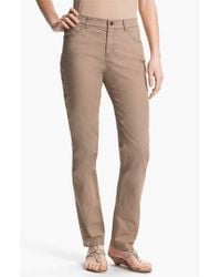 Lafayette 148 New York | Brown 'primo Denim' Curvy Fit Slim Leg Jeans | Lyst