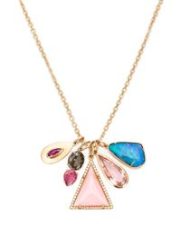 Irene Neuwirth | Pink 18kt Gold And Mixed Gemstone Necklace | Lyst
