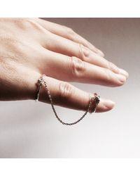 Ayaka Nishi | Metallic Yellow Bronze Bone Chain Ring | Lyst