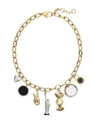 Marc By Marc Jacobs - Multicolor 'lost & Found - New York Trinket' Frontal Necklace - Oro Multi - Lyst