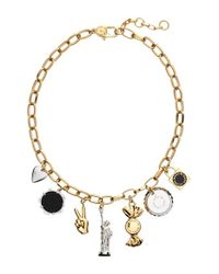 Marc By Marc Jacobs | Multicolor 'lost & Found - New York Trinket' Frontal Necklace - Oro Multi | Lyst