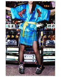 House of Holland | Blue Short Tartan Kilt Skirt | Lyst