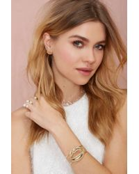 Nasty Gal - Metallic Suck My Kiss Bracelet - Lyst