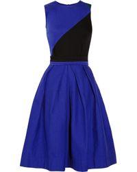 Preen Line - Blue Ivy Paneled Stretch-Cotton Drill Dress - Lyst