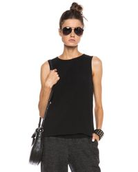 Rag & Bone - Black Harper Triacetateblend Top - Lyst