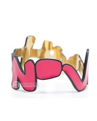 Louis Vuitton - Pre-owned Pink Graffiti Bracelet - Lyst