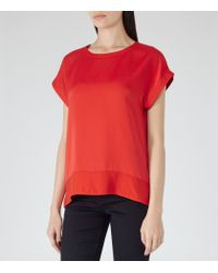 Reiss | Red Elissa Button-back Top | Lyst