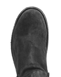 Officine Creative - Gray Suede Ankle Boots - Black for Men - Lyst
