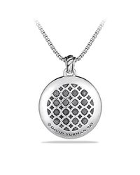 David Yurman | Metallic Labyrinth Pendant With Diamonds | Lyst