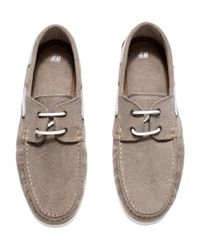 H&M - Brown Deck Shoes for Men - Lyst