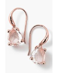 Ippolita | Pink 'Rose Rock Candy' Teardrop Earrings | Lyst