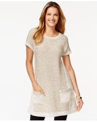 Style & Co. | Natural Style&co. Marled-colorblock Tunic, Only At Macy's | Lyst