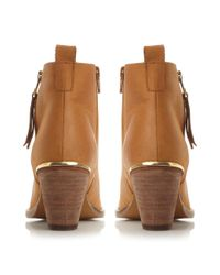 Steve Madden - Brown Wantagh Zip Detail Ankle Boots - Lyst