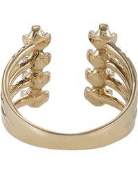 Jennie Kwon - Metallic Pavé Diamond, Pearl & Gold Cuff Ring Size 7 - Lyst