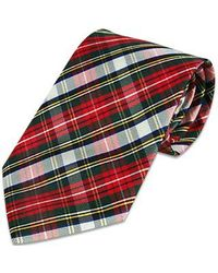 FORZIERI - Red Plaid Silk Tie for Men - Lyst