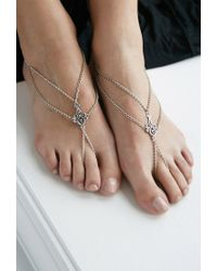 Forever 21 - Metallic House Of Blaise Filigree Foot Chain Set - Lyst