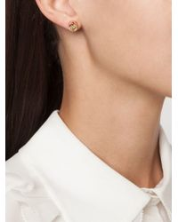 Eddie Borgo | Pink Triangle Embellishment Round Earrings | Lyst