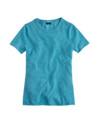 J.Crew - Blue Collection Cashmere Tee - Lyst