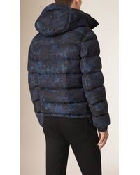 Burberry - Blue Down-filled Puffer Jacket for Men - Lyst