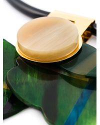 Marni | Green Flower Pendant Necklace | Lyst
