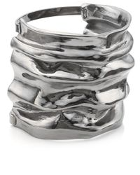 Annelise Michelson | Metallic Gunmetal Small Draped Cuff | Lyst