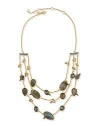 Alexis Bittar - Metallic Elements Confetti Station Necklace - Lyst