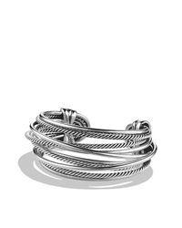 David Yurman - Metallic Crossover Wide Cuff - Lyst