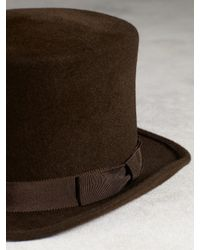 John Varvatos - Brown Rabbit Hair Top Hat for Men - Lyst