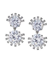 Asha | White Tallulah Earrings, Cubic Zirconia | Lyst
