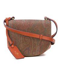 Etro - Multicolor Paisley Print Saddle Bag - Lyst