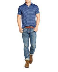 Polo Ralph Lauren | Blue Striped Pima Polo Shirt for Men | Lyst