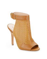 Pour La Victoire - Brown Open-toe, Open-back Leather Ankle Boots - Lyst