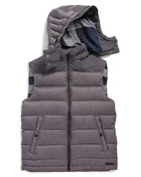 Burberry Brit | Gray 'fitzroy' Down Vest for Men | Lyst