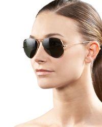 Ray-Ban - Metallic Original Aviator Sunglasses - Lyst