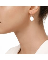 Monica Vinader - White Atlantis Flint Drop Earrings - Lyst